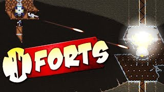 DESTROYING the FORTS MEGABOSSES! - Forts Multiplayer Gameplay