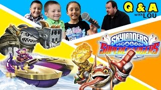 SKYLANDERS SUPERCHARGERS Q&A INTERVIEW w/ SKYLANDER BOY AND GIRL & LOU - Do You Have Questions???