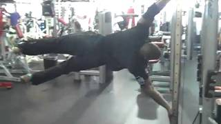 planche push ups, human flag pole, and handstand training
