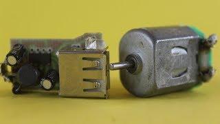 How to Make a Mobile Charging machine Generator using DC Motors