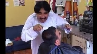 Ismail shahid FUNNY hair cutting job VERY FUNNY!!