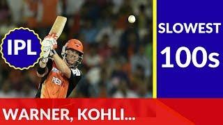 Top 10 Slowest Hundreds in IPL