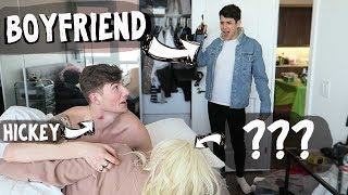 CAUGHT IN THE BED WITH YOUR FRIEND PRANK ON BOYFRIEND *he freaks out*