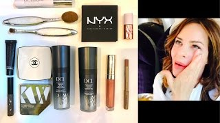 Make-up routine on in the LOO on the train to Birmingham | TRINNY
