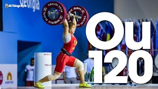 Ou Lingli (58kg, China, 18 y/o) 120kg Clean & Jerk 2016 Junior World Weightlifting Championships