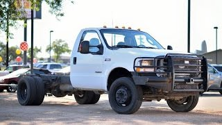 2004 Ford F550 Super Duty Chassis Cab 6 Speed Powerstroke Review