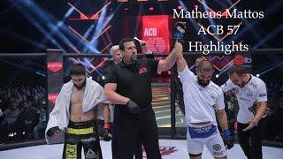 Matheus Mattos ACB 57 MMA Highlights [HELLO JAPAN]