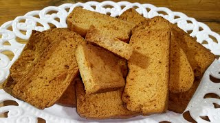 Toast Biscuit recipe/চুলায় তৈরি টোষ্ট বিস্কুট/Tea Biscuit/Plain Biscuit