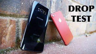 Samsung Galaxy S8 vs iPhone 7 Drop Test!