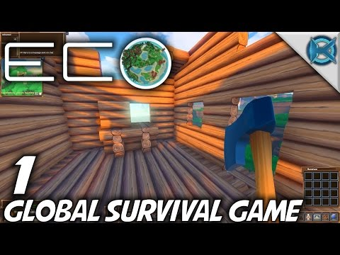 Eco   EP 1   Global Survival Game   Let's Play Eco Gameplay (S-1)