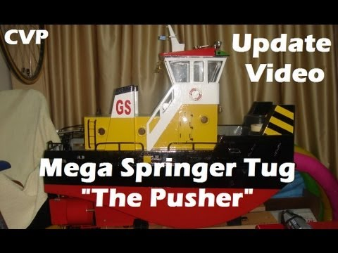 CVP Mega Rc Springer Tug The Pusher Update Video