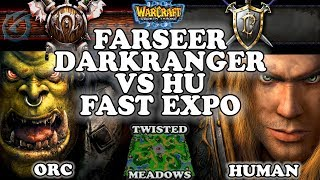 Grubby | Warcraft 3 TFT | 1.29 | ORC v HU on Twisted Meadows - Farseer Darkranger vs HU Fast Expo