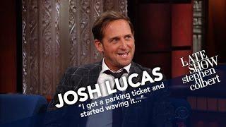 Josh Lucas Had A Machine Gun Pointed At Him