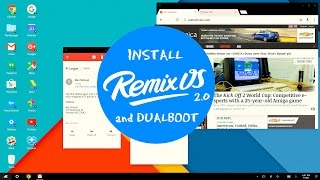 How to install Remix OS & How to Dual-boot Windows 10 & Remix OS 3.0 [2016]
