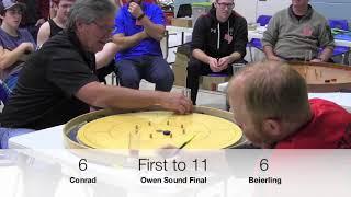 Crokinole 2017 Owen Sound Final - Conrad v Beierling
