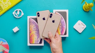 Gold iPhone XS Max vs XS Unboxing + Comparison!
