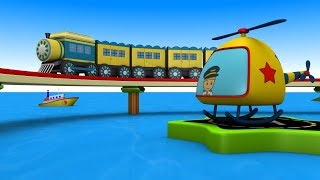 Toy train cartoon for kids - Toy Factory - choo choo train - Train Cartoon - train Videos