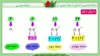ریاضی دهم - فصل اول - تعریف دنباله هندسی و آشنایی با جمله عمومی آن