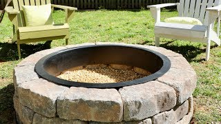 How to Build a DIY Fire Pit in Your Backyard - Thrift Diving
