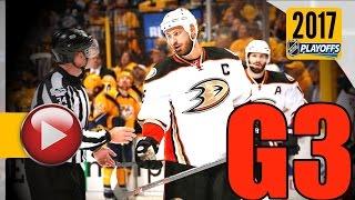 Anaheim Ducks vs Nashville Predators. NHL 2017 Playoffs. Western Conference Final. Game 3. (HD)