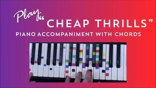 How to Play Sing Cheap Thrills - Sia | Easy Piano Chord Lesson | IVOREEZ