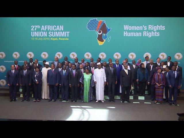 Rwanda AU Summit opening