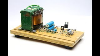 Simple power supply with adjustable voltage and current