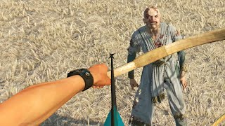 ZOMBIES vs. BOW AND ARROW! (Dying Light The Following)
