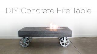 DIY Concrete FireTable