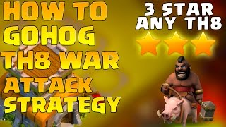 Download Town Hall 8 War Attack Strategy 2016 GoHog - 3 Star Any TH8 - [Th8] 3 Star Attack Strategy 3Gp Mp4