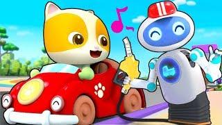 Magical Robot Gas Pumper | Doctor Cartoon, Police Truck | Kids Cartoon | Kids Cartoon | BabyBus