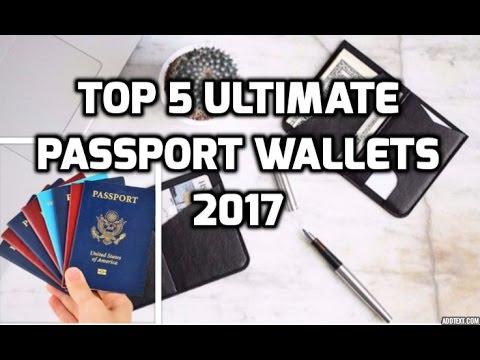 Top 5 Ultimate Passport Wallets 2017 |  FOLD Dash Minimalist TR Passport Accomplice Vinco Fly
