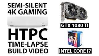 Semi Silent 4k Gaming HTPC Time-Lapse Build Video