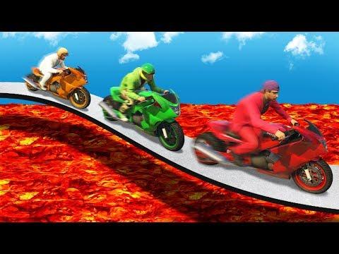EXTREME LAVA TIGHTROPE BATTLE GTA 5 Funny Moments