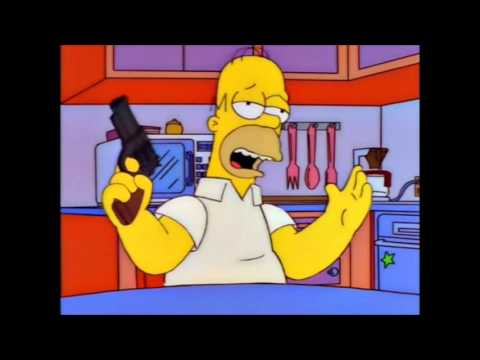 The Simpsons - Homer and his gun