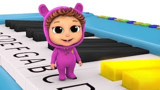 Learn to Play Piano | ABCDEFG Song | Learn Music