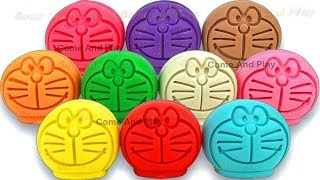 Learn Colors with Play Doh Doraemon Surprise Toys with Disney Toys