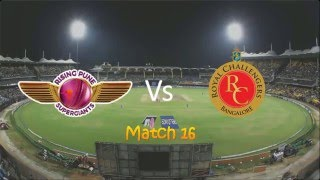 IPL Rising Pune Supergiants vs Royal Challengers Bangalore match highlights 22 april 2016 RPS Vs RCB