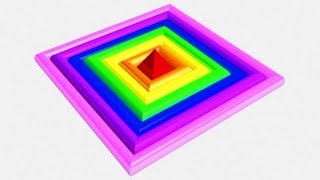 Learn Colors with a 3D Colorful Diamond video for children