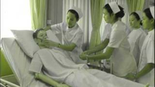 Hot nurse staff gives patient a blowjob to save his life
