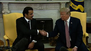 Trump Welcomes Emir of Qatar to White House