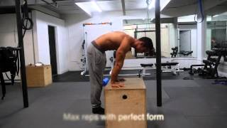 Handstand - How to do a Straight Arm Press to handstand tutorial