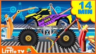 Monster Tow Truck | Car Wash Videos | Monster Truck Stunt | My Little TV
