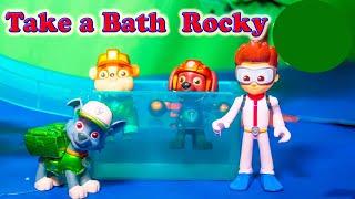 PAW PATROL Nickelodeon Paw Patrol Take a Bath Rocky Paw Patrol Video Parody