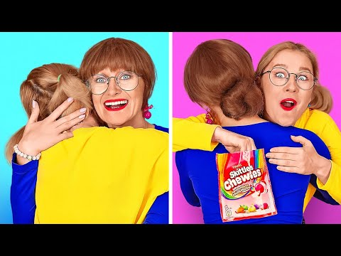 HOW TO SNEAK CANDIES AND FOOD ANYWHERE Funny Food Hacks by 123 GO