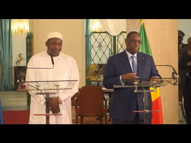 Le Pr gambien Adama Barrow pour sa 1ère visite d'Etat...au Sénégal