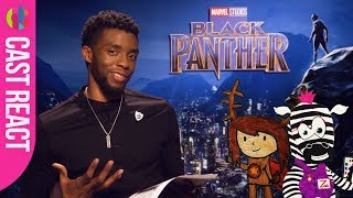 Black Panther cast react to kids