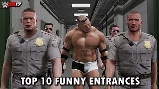 WWE 2K17 - Top 10 Funniest Entrances