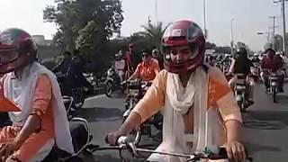 FSD samia Rasheed tells about FSD GIRLS RIDING BIKES ON ROADS