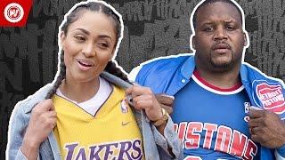 Los Angeles Lakers vs. Detroit Pistons   Mr. Throwback Showdown